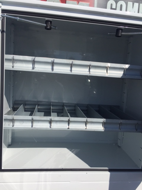 Concrete Saw Body (Flatbed Type) - Right Side 36x36x20 Rear On Deck Cabinets with Shelves