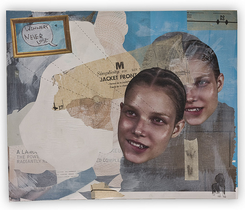"Honeymoon 24"" x 6"" mixed media on"