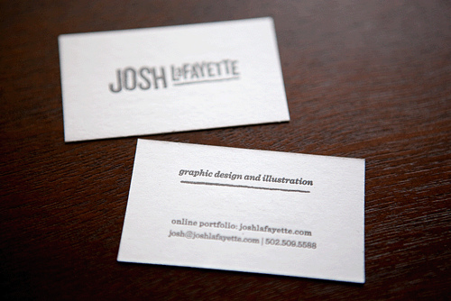 "I received my new business cards in the mail late last Friday evening. I could not be more pleased with these little beauties. They were printed by the lovely people at Mama's Sauce in Orlando, FL. And the wonderful photographs above were taken by Douglas Anderson.For all of the nerds out there, the specs are as follows:3"" x 1.75""140# French Starch Whitesingle pass of 75% black"