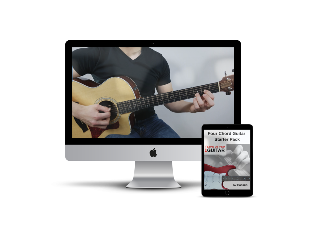 Level Up Your Guitar Four Chord Starter Pack Devices.png