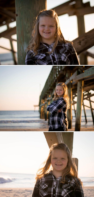 girl under pier