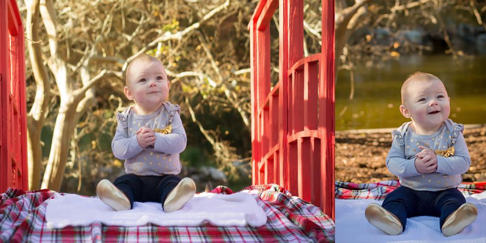 baby on bridge