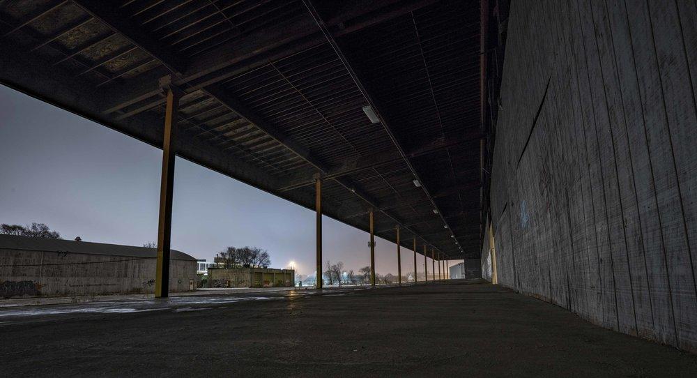 Looong loading dock.