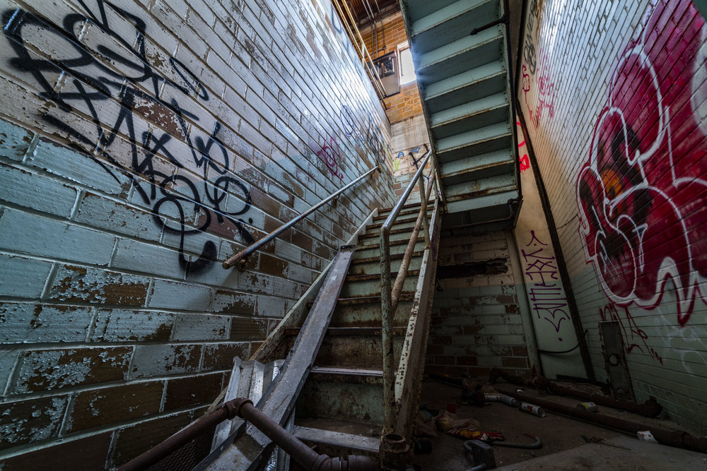 A stairwell to get to the roof.