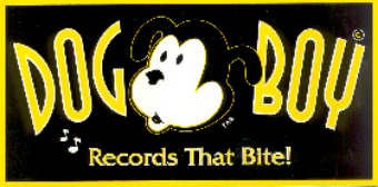 Dog Boy Records bumper sticker designed by Tom Rozum