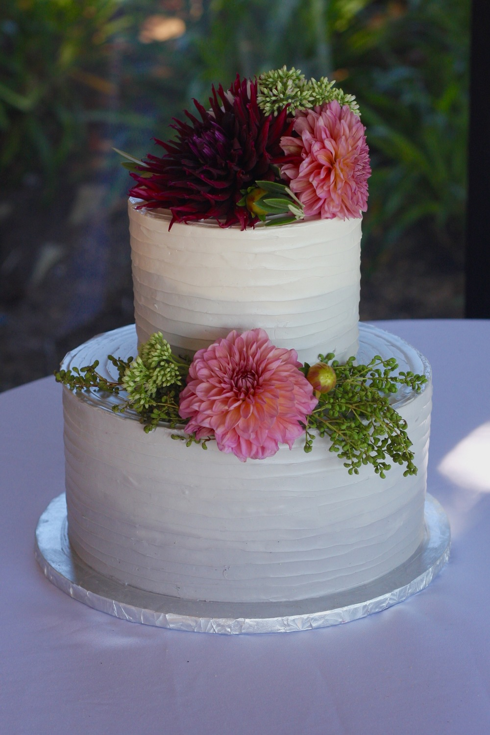 Gray and White Ombre Buttercream Cake