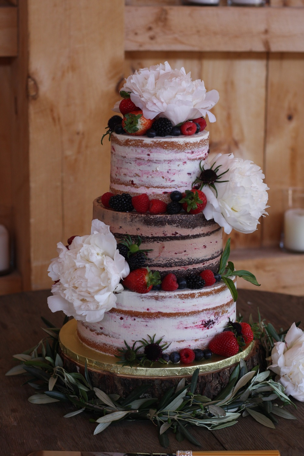 Tiered Naked Cake with Fresh Fruit