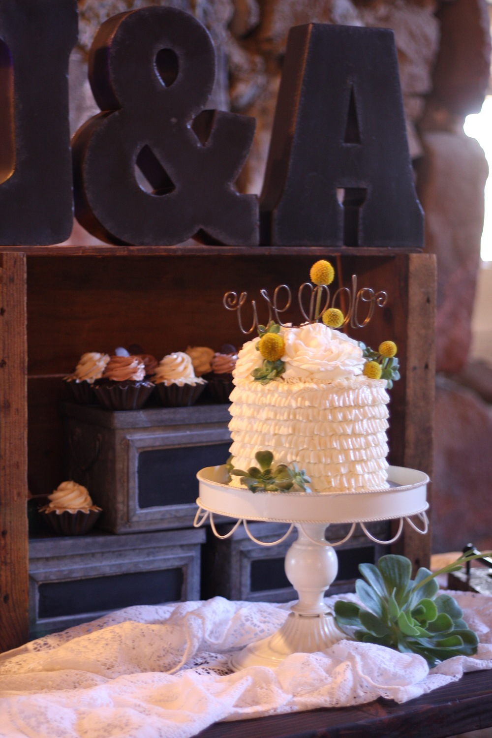 Buttercream Ruffled Wedding Cake