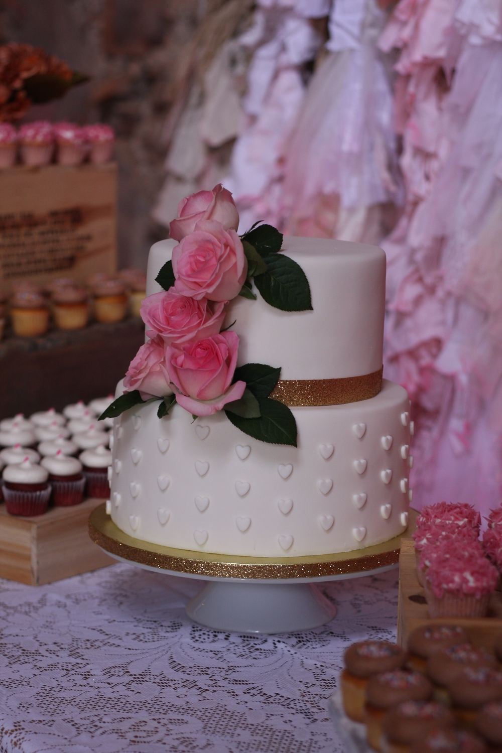 Wedding Cake with Fondant Details