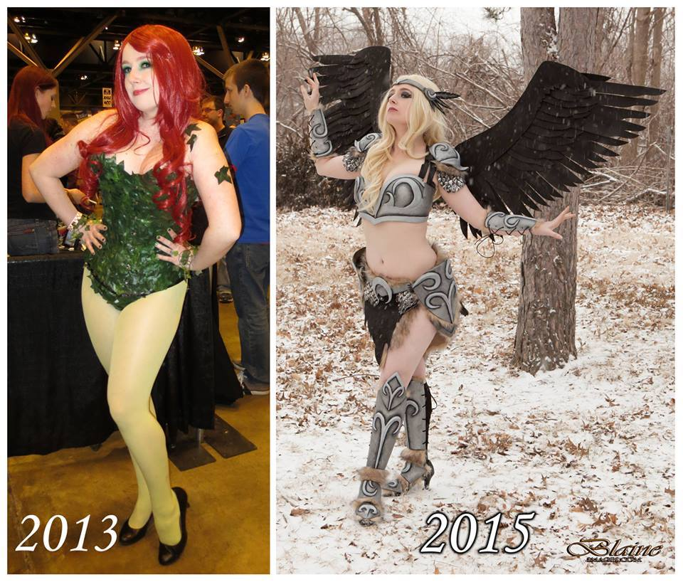 First cosplay & most recent cosplay  Cosplayer:  Désirée Cosplay , Photographer:  Blaine Images