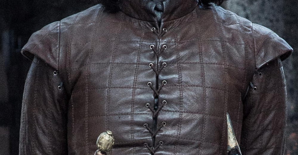 Close-up: Arya's quilted leather doublet (Far Far Away Site)