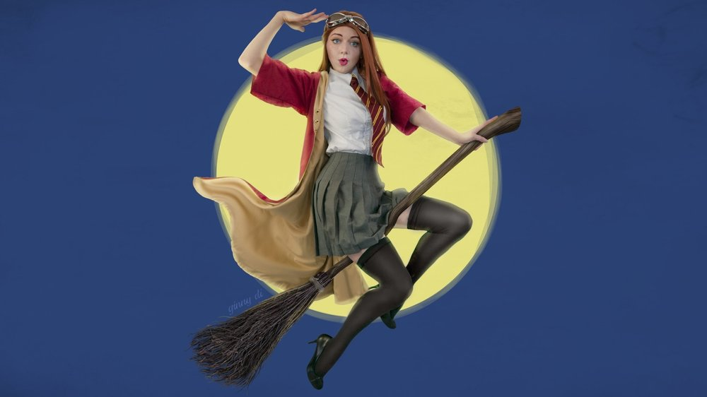 Ginny Weasley Harry Potter Cosplay Pin-Up