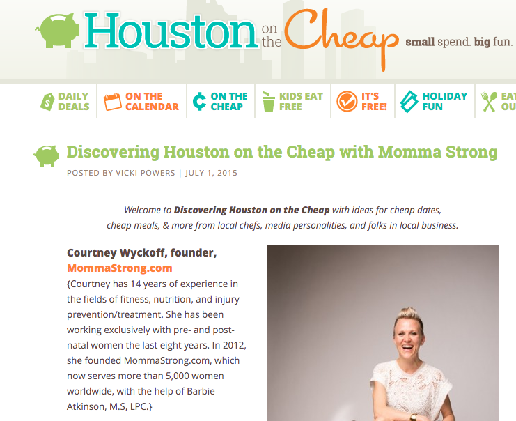 Houston on the Cheap feature