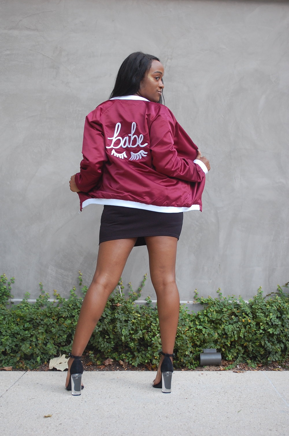 Let 'em know with this bomb Babe jacket from  The Style Club