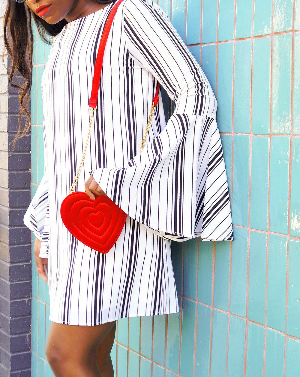 How cute is this heart bag from Euro brand  Monki  tho?!