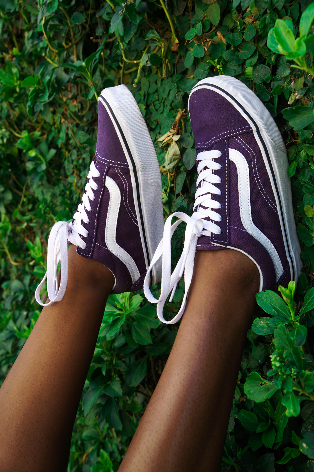 Snag these grape Old Skool Original Vans at  Urban Outfitters  to complete your look