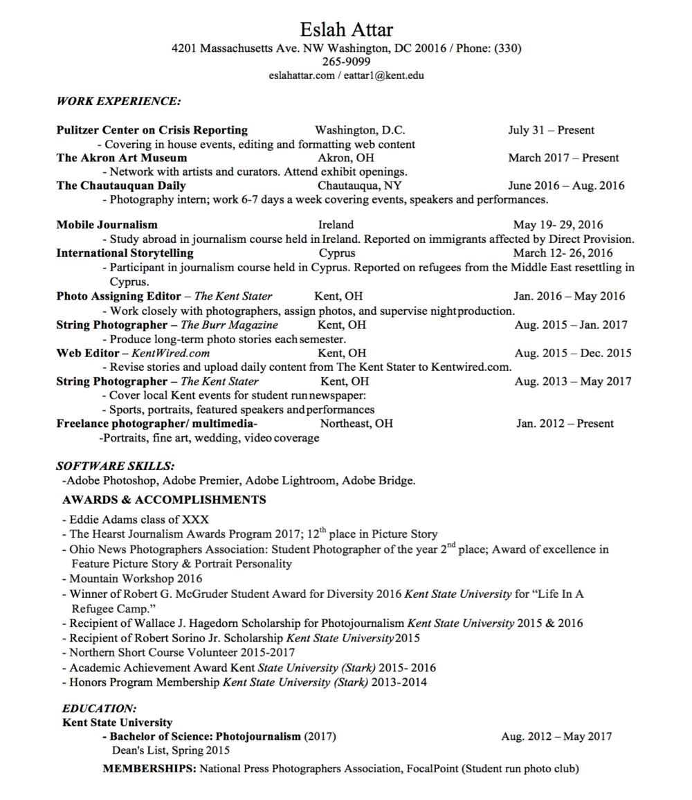 resume eslah attar