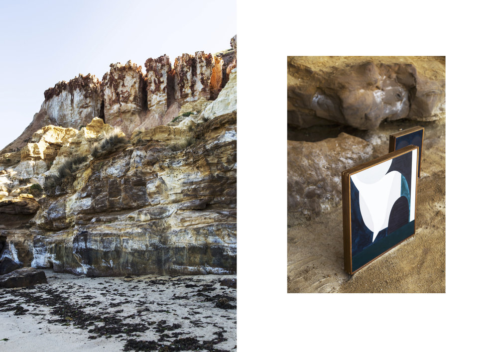 Photographs by Suzi Appel on location; Red Bluff Cliffs, Black Rock.