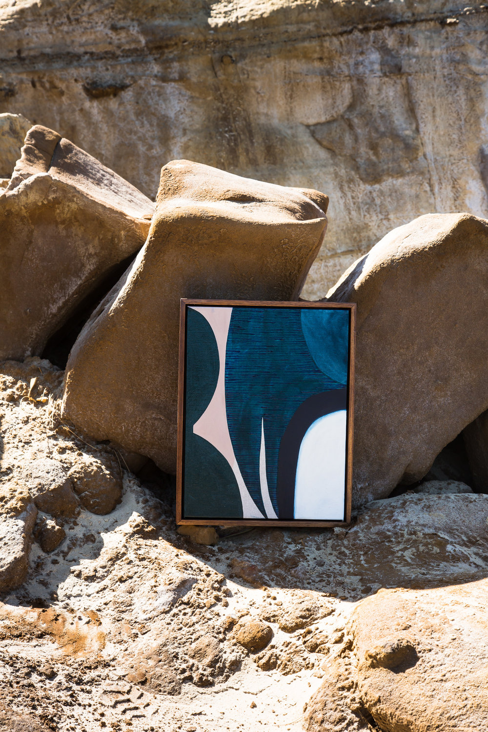 Original Artwork; Below The Earth shot on location at Red Bluff Cliffs, Black Rock, Victoria. Photograph by Suzi Appel.