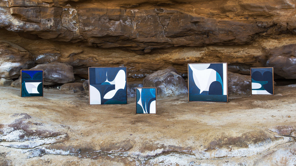UNDERWORLD Collection - Photograph by Suzi Appel on location at Red Bluff Cliffs, Black Rock. All artworks are original pieces by Hannah Nowlan.