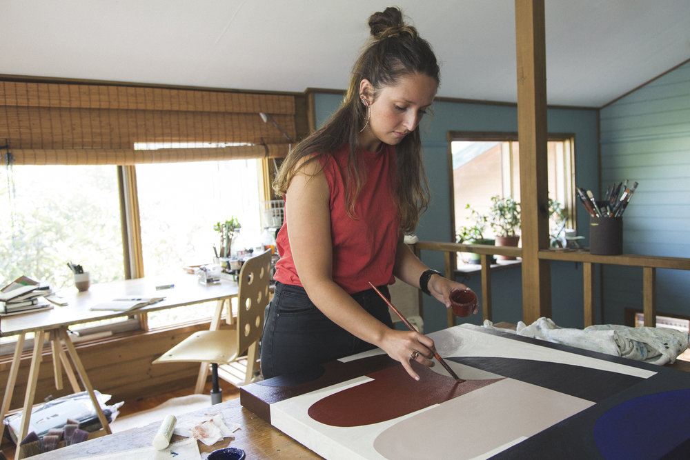 Hannah Nowlan in her studio, Photograph by MIKEY ANDERSSON courtesy of ELK ACCESSORIES