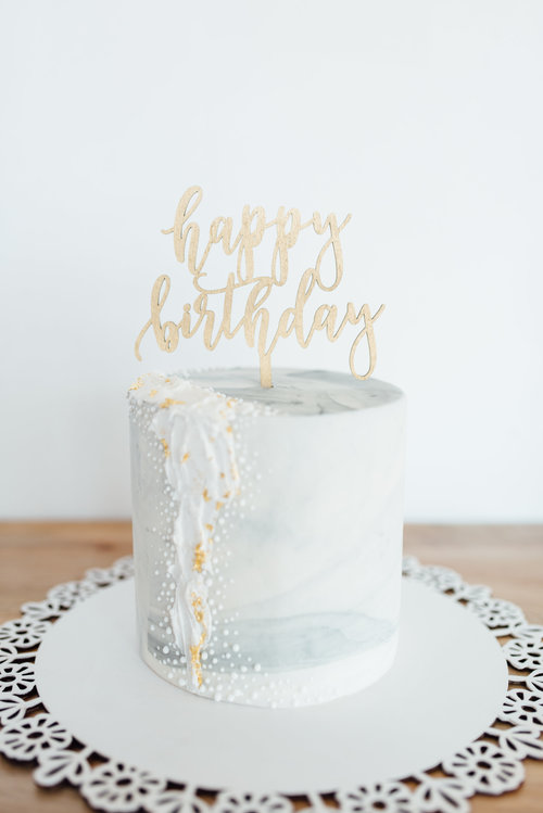 Happy Birthday Cake Topper Ever Laser