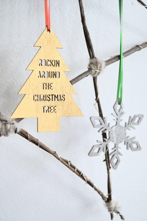 Rockin Around The Christmas Tree Ornament Ever Laser