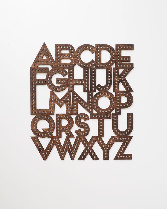 🔠 in dark wood ✌🏻💛 Swipe for gold