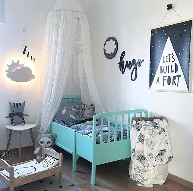 We think Hugo's room is pretty rad 🖤 Name sign by us! Room styled by @pixistuff ✨