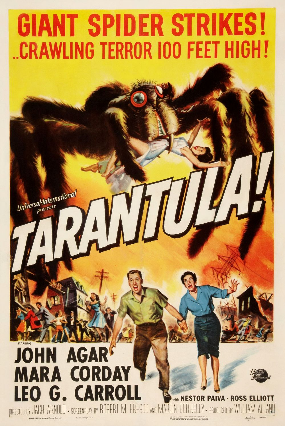 TARANTULA (1955) promised the antics of a giant arachnid with a preference for humans.