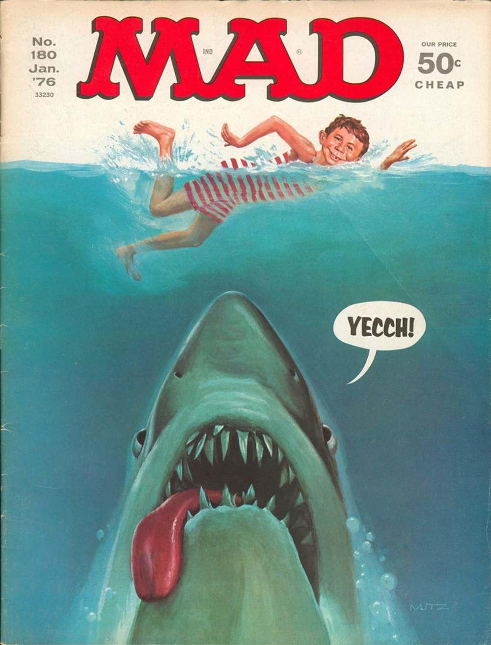 'Jaws', January 1976 by Mort Künstler.
