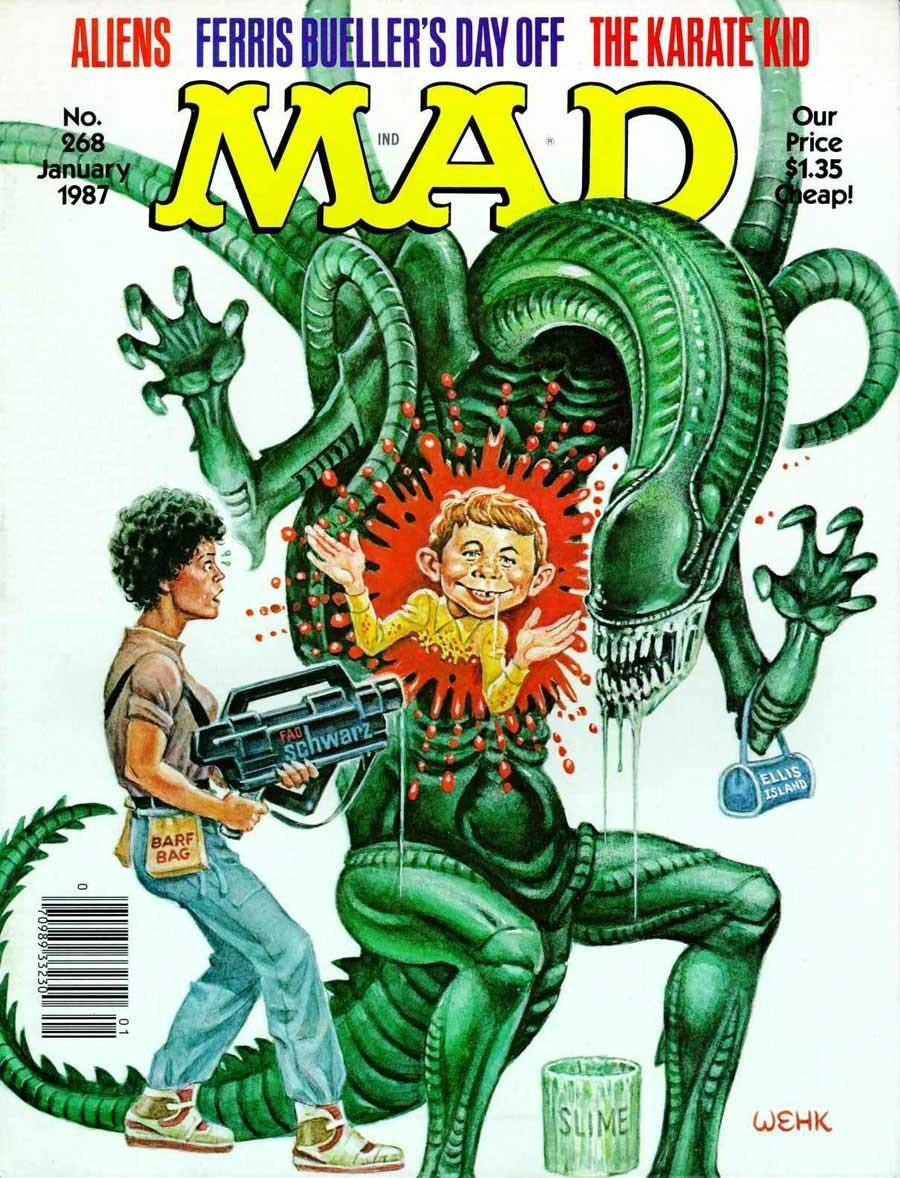 'Aliens', January 1987 by Will Elder and Harvey Kurtzman.