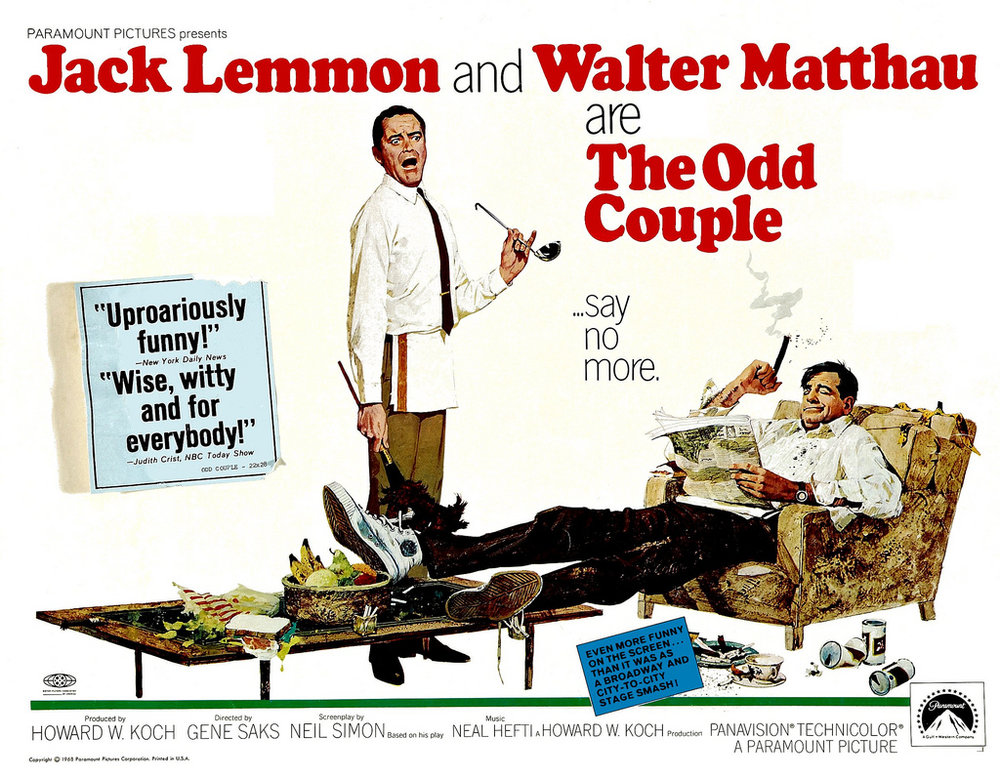 Poster art for THE ODD COUPLE (1968)