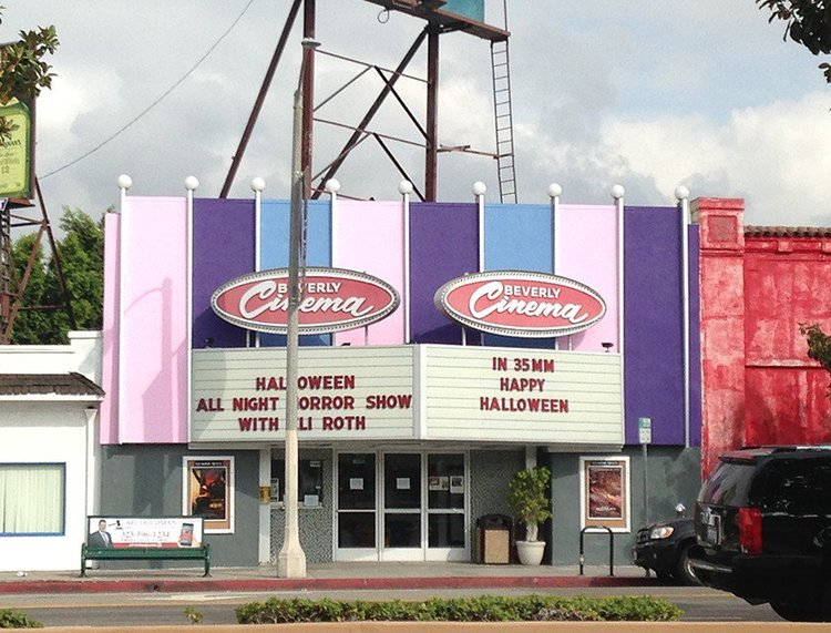 NEW BEVERLY CINEMA (Los Angeles, CA) - Owned by Quentin Tarantino, this classic film house screens double features of many incredibly rare 16mm and 35mm prints programmed by Tarantino himself.