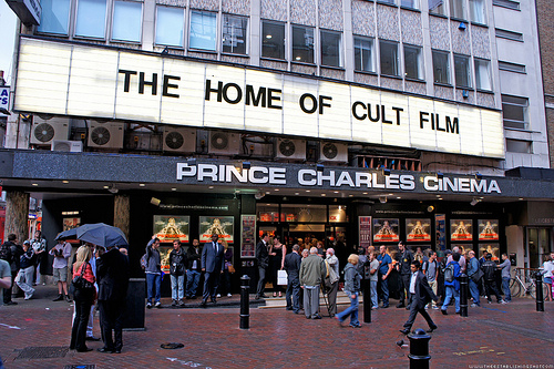 PRINCE CHARLES CINEMA (London, UK) - London's legendary repertory film institution. Screens a creative and bold calendar of retrospectives, festivals and more in 35mm, 70mm and DCP formats. Its marquee is well known for its quirky messages and slogans.