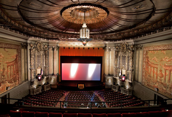CASTRO THEATRE (San Francisco, CA) - The bay area's grand old film palace is a sheer marvel with a stunning Baroque facade. Opened in 1922, it seats 1400 and screens classics and cult double features, plus sing alongs and more. Screens 35mm, 70mm and DCP.
