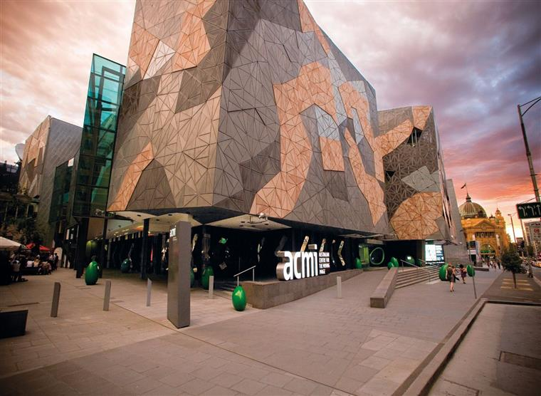 AUSTRALIAN CENTRE OF THE MOVING IMAGE (Melbourne, Australia) - Starting life in 1946, 'ACMI' became a state of the art facility of exhibitions dedicated to the moving image through a variety of media. It boasts two cinemas that screen a multitude of cinema, including repertory in 35mm and digital formats.