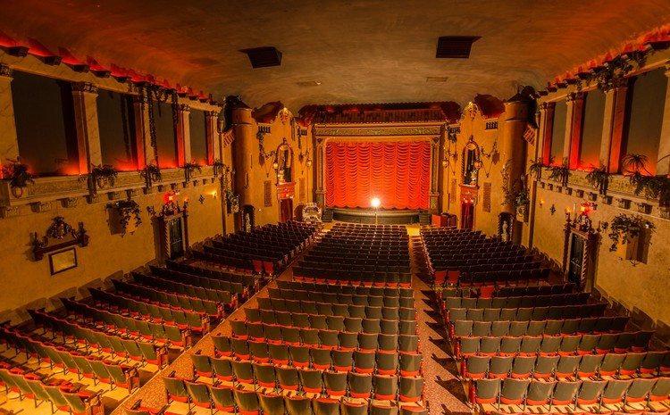 MUSIC BOX THEATRE (Chicago, IL) - Opened in 1929, the Music Box added a second screen in 1991 in addition to the gorgeous main auditorium. It screens all film and digital formats with a regular midnight program. Legend is the original manager haunts the theatre, with the couch he passed away on still sitting in the lobby.