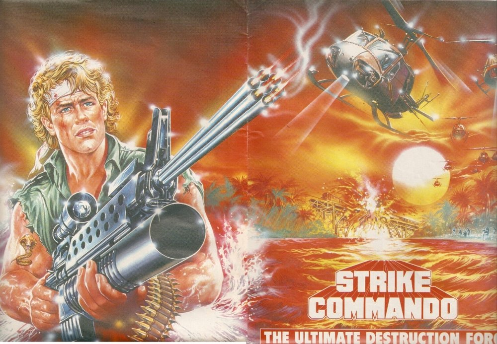 STRIKE COMMANDO (1987 / DIGITAL) - Loft Cinema, Tuscon AZMon Jan 14th 8pmGuns, guns, guns! Muscles, muscles, muscles! The Loft serves up more doses of bad cinema from the depths of VHS purgatory Obviously trying to rip off Rambo, Strike Commando stars Reb Brown, a budget muscles for hire that you probably found lurking on cover art at the bottom of the video store shelf. More info HERE