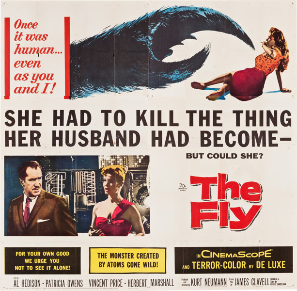 THE FLY (1958 / DCP) + THE FLY (1986 / 35mm Print) - Sun Jan 27th 3:30pm & 7:30pm / Brattle Theatre, Cambridge MABack to back - the original 1950s thriller starring the king of schlock Vincent Price, plus the body horror-centric 1986 remake from David Cronenberg and starring Jeff Goldblum. What a treat!More info HERE