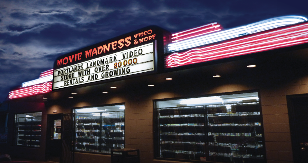 MOVIE MADNESS (Portland, OR) - One of the greatest video stores out there, Movie Madness is not just a video store with countless movies, but also a movie museum with original pieces of movie memorabilia. It's a paradise for movie fans as their titles are not only arranged by genre, but also by film makers or actors. Also has quite the backing of famous faces like Bruce Campbell and director Alex Cox.