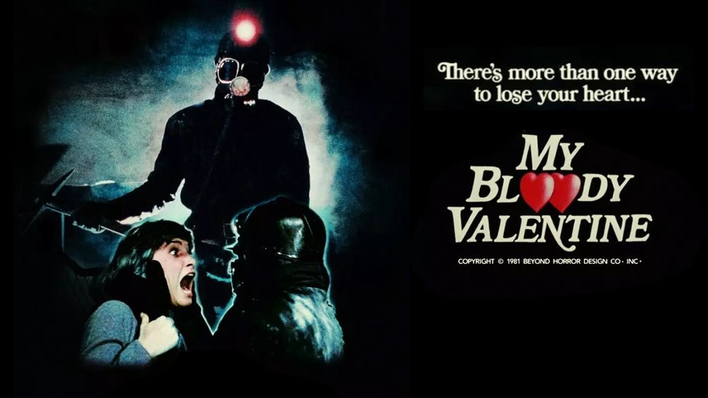 MY BLOODY VALENTINE: UNCUT VERSION (1981 / DCP) - Thurs Feb 14th 10pm / Frida Cinema, Santa Ana CAClose out your Valentine's Day at The Frida Cinema with 1981's My Bloody Valentine! Twenty years ago in the sleepy mining town of Valentine Bluffs, a fatal mining disaster occurred on Valentine's Day while members of the crew decorated for a party. Driven mad by the experience, the sole survivor goes on a killing spree, resulting in the town outlawing the celebration of Valentine's Day.More info HERE