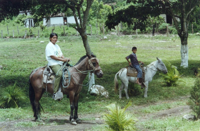 Patients in our clinic in Canchias, Honduras, 2001