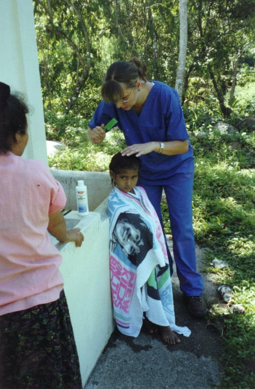 Patient in our clinic in Canchias, Honduras, 2001