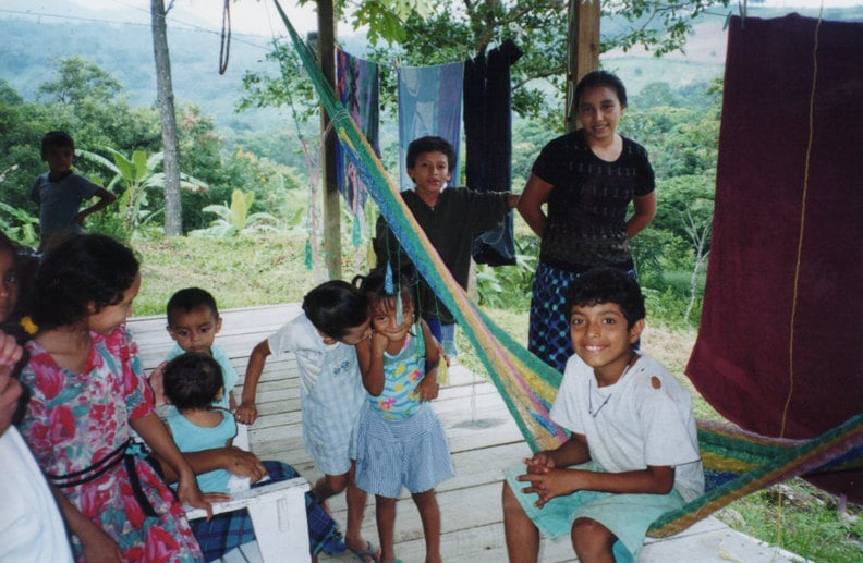 Party at the gringos' house, Canchias, Honduras, 2002