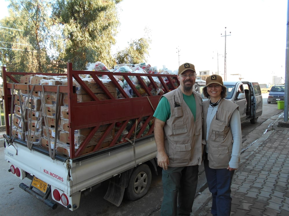 Dr. David and Marty Sperow, Iraq 2014