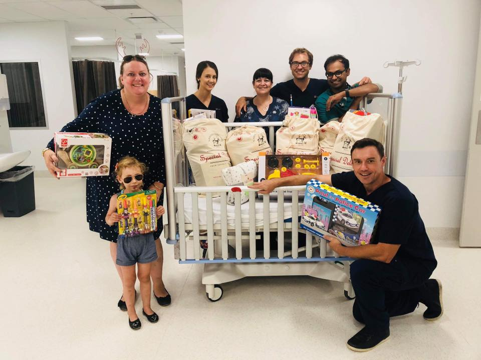 The Staff at Gosford Hospital Emergency Department were so grateful to be able to have something special to give the children who won't be celebrating Christmas at home as planned due to sickness or an injury. To be able to give these kids a gift from all the donations we received makes our hearts smile 😊 thank you so much.