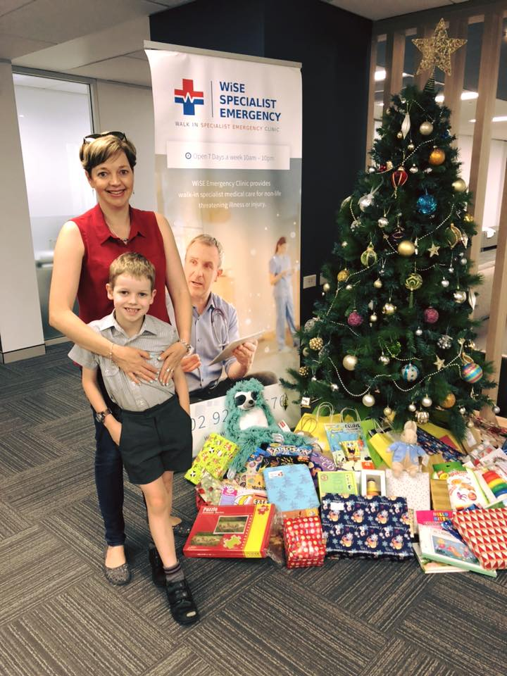 We delivered an amazing amount of gifts and toys for the kids who will come through the doors of the    Wise Specialist Emergency Clinic - Macquarie Park    over the Christmas weekend. The team were absolutely thrilled with this donation and are so grateful for our support. The kids were fantastic helpers to unpack the tubs of gifts for under the tree