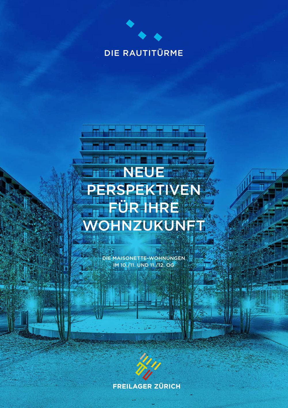 Werbeplakate für Freilager in Zürich