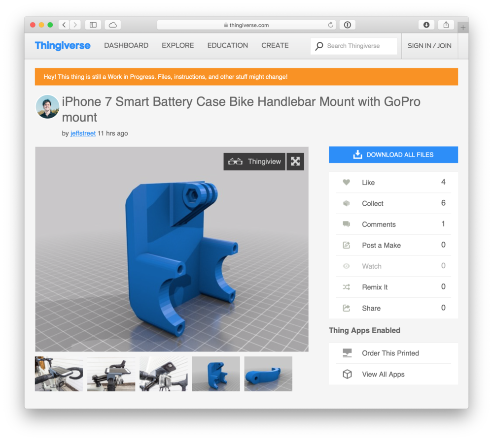 Download 3D printable files from Thingiverse .